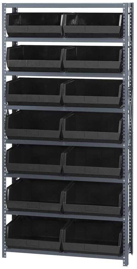 Quantum Storage Giant Open Hopper 14 Bin Shelving
