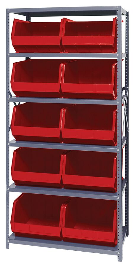 Quantum Storage Giant Open Hopper 10 bin Shelving